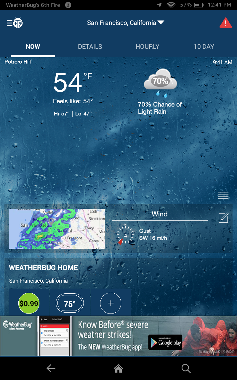 WeatherBug - Free Local Weather Forecast, Radar Map & Severe