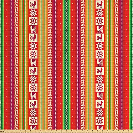 Amazon Com Lunarable Native American Fabric By The Yard South
