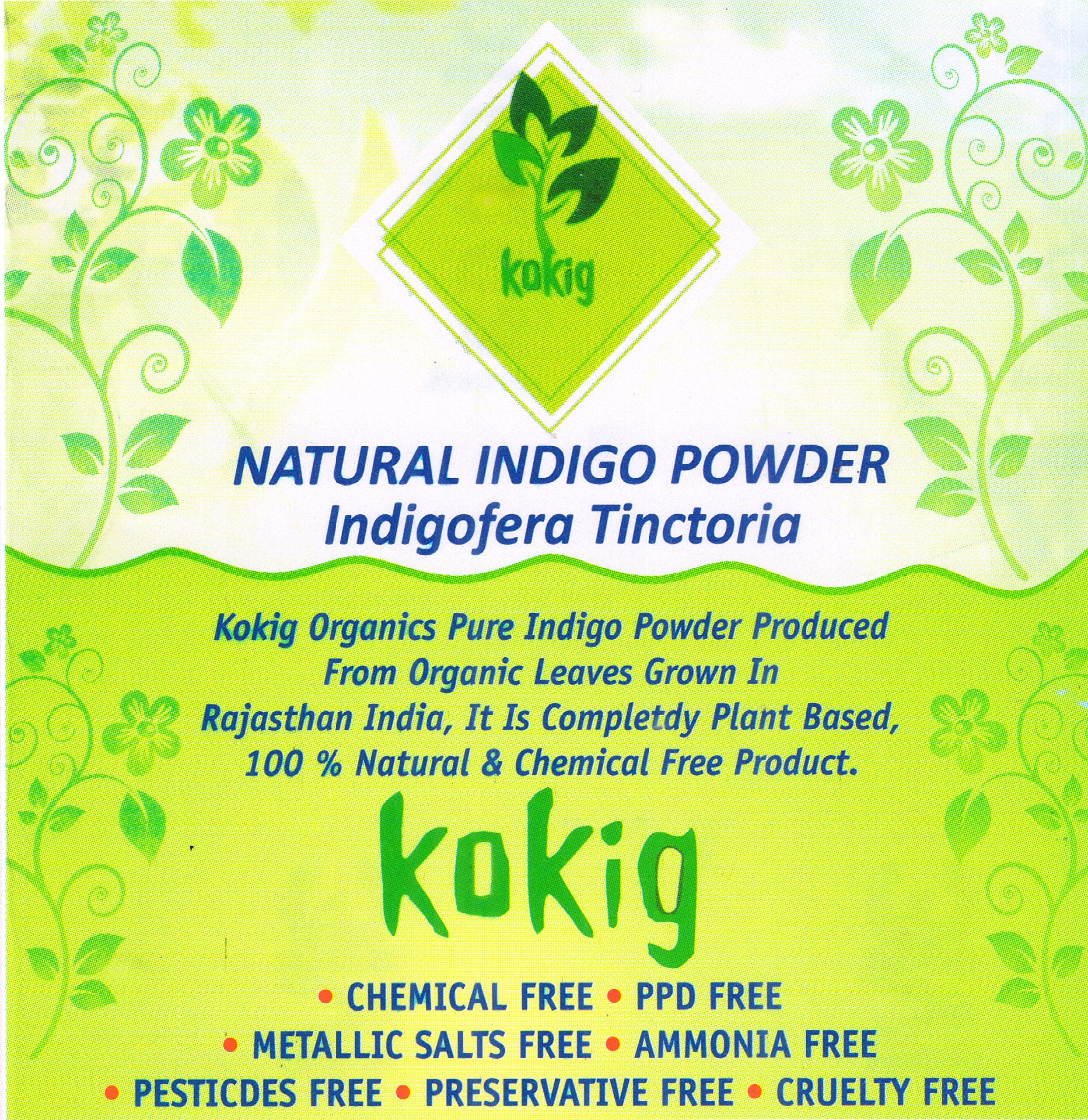 KOKIG 100% Natural Herbal Organic INDIGO POWDER (425 Grams) product image