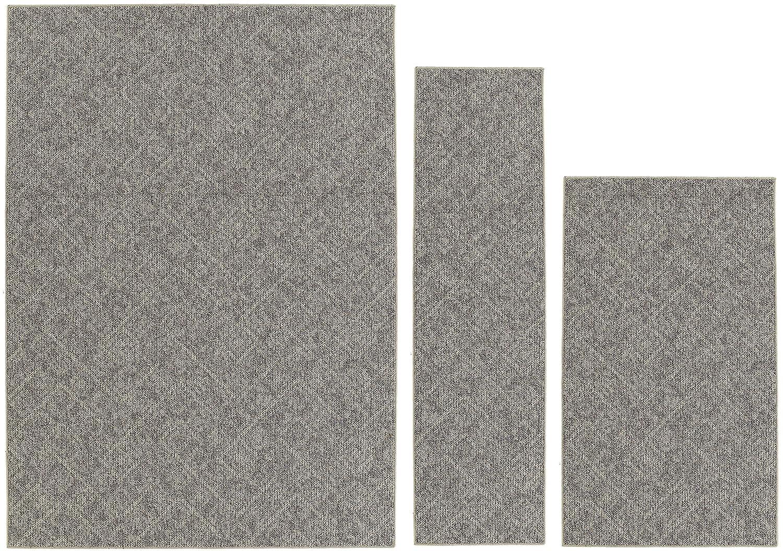 Garland Rug CA000A3P0301 Classic Berber, 3 Piece Set, Tan