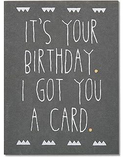 3d63e7f4f8026 Amazon.com: Hallmark Shoebox Funny Birthday Card (Young Once ...
