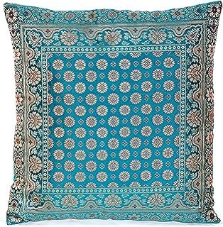 turquoise / türkis indische seide deko kissenbezüge 40 cm x 40 cm ... - Schlafzimmer Deko Turkis