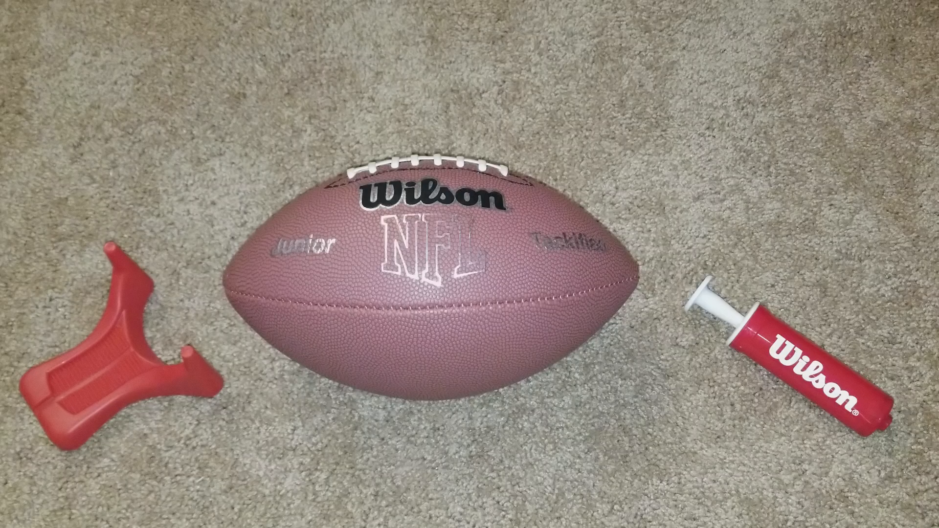 amazon com wilson nfl mvp junior football with pump and tee