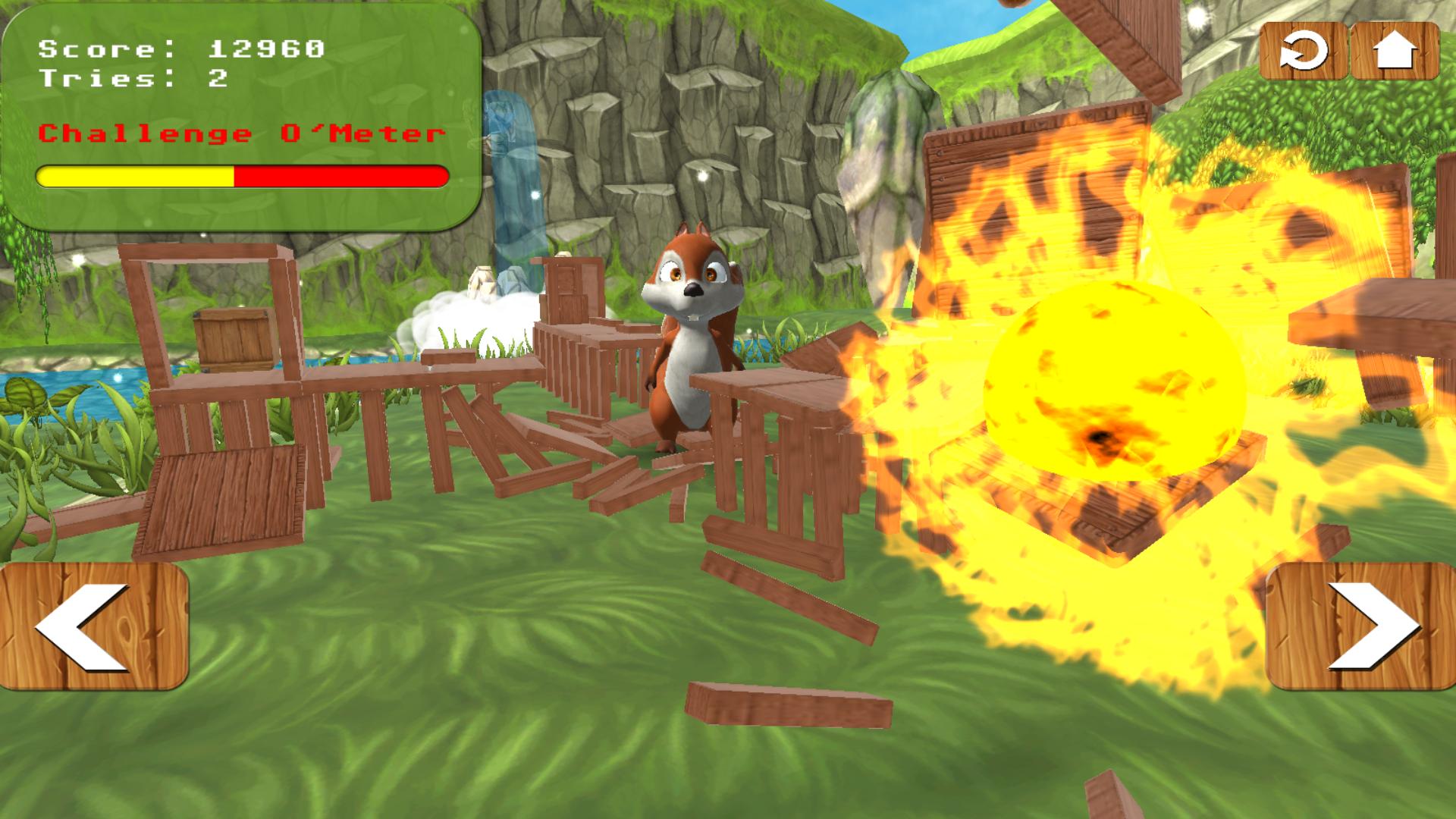 Squirrel Bricks Game (Juego de ardillas)