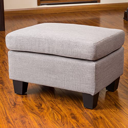 Christopher Knight Home Christabel Grey Fabric Ottoman Footstool