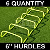 Agility Hurdles [Pack of 6] Multi-Sport Speed Training Aid [Range of Sizes] [Net World Sports]