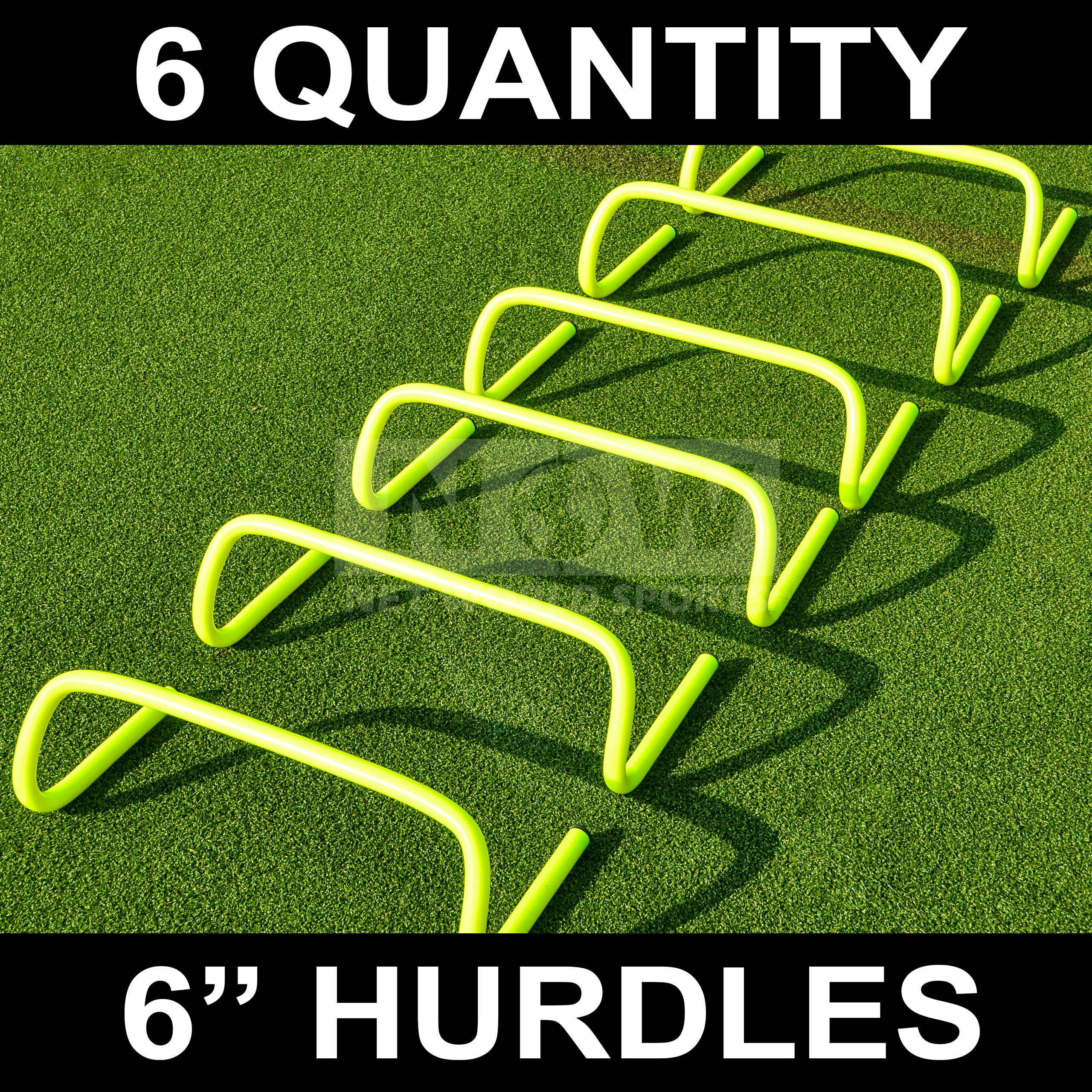 Net World Sports 6'' Speed Hurdles [Set of 6] - New and Improved Design, (6 inch)