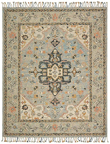 Stone Beam Garrison Vintage Pattern Wool Area Rug, 5 x 8 Foot, Grey Multi
