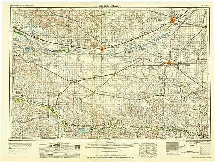 Amazon Com Yellowmaps Grand Island Ne Topo Map 1 250000 Scale 1