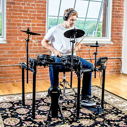 Alesis Drums Nitro Mesh Kit | Eight Piece All-Mesh Electronic Drum Kit With Super-Solid Aluminum Rack, 385 Sounds
