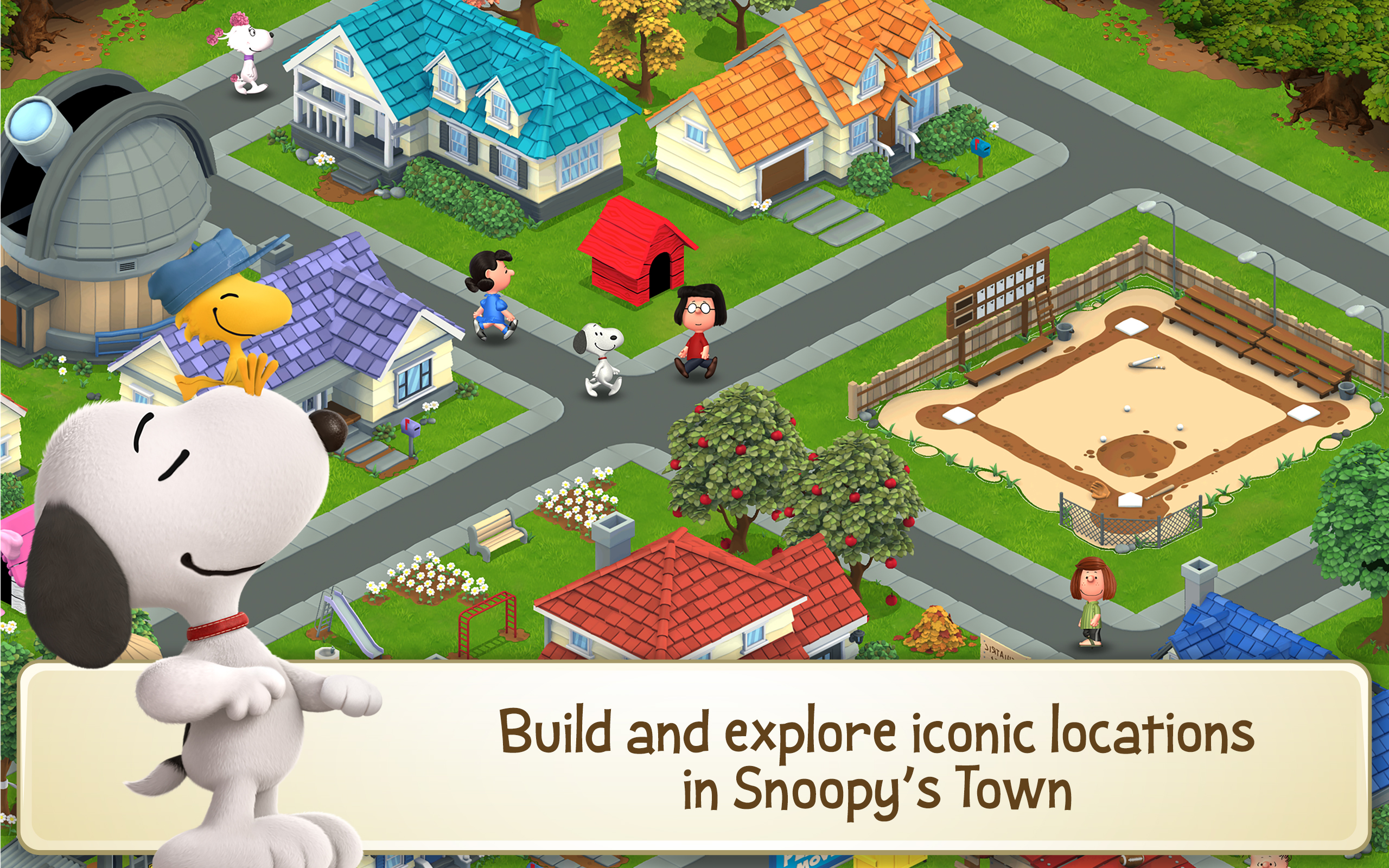 peanuts snoopy s town tale amazon   au appstore for
