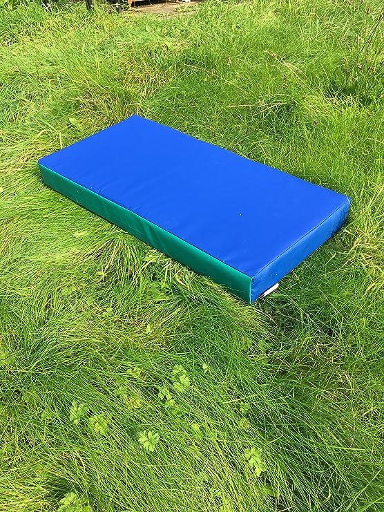 /Bleu//Vert/ /en PVC 610/G//M/²//en Mousse Haute densit/é/ /100/cm x 50/ ABM SOFTPLAY 99,1/cm X 50,8/x 10,2/cm /épais Doux Jeu Gymnastique datterrissage Crash Tapis/