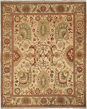 Amazon Com Safavieh Ziegler Mahal Collection Zm12a Handmade Traditional Oriental Premium Wool Area Rug 10 X 14 Ivory Ivory Furniture Decor