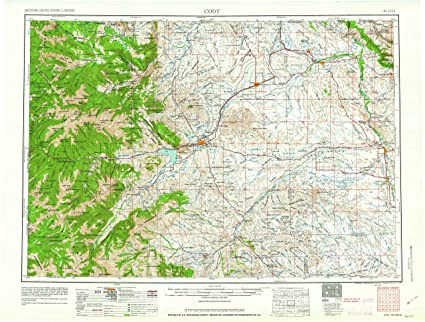 Amazon Com Yellowmaps Cody Wy Topo Map 1 250000 Scale 1 X 2