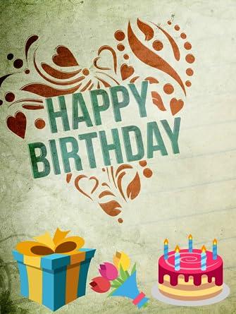 Amazon com: 15 Happy Birthday Video-Downloads as mp4 [Online Code