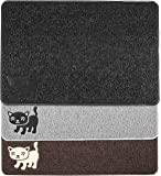 BPA Free Premium Cat Litter Mat - Extra Large - Best Quality Kitty Litter Catcher with 9-TM Scatter Control - Urine Proof Litter Mat- Soft Touch for Cats Paws