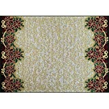 "Manual Christmas Star Poinsettia Ribbon Tapestry Placemats TCHSP 18x13"" Set of 4 Multi"