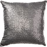 only the pillow cover, the insert not included. Stylish Comfy Solid Color Sequins Cushion Cover Throw Pillow Case Cafe Decor (Gray)