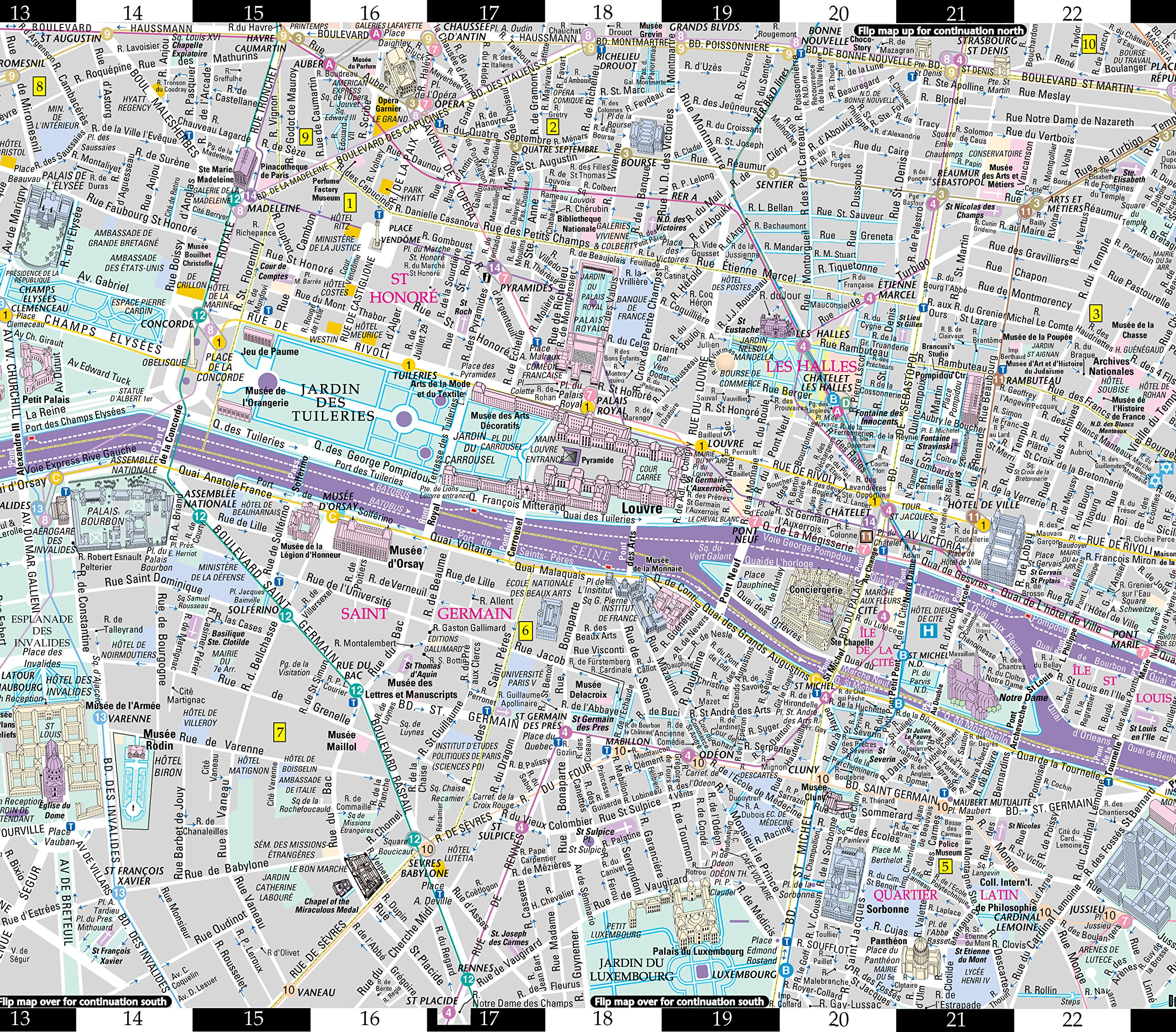 Streetwise Paris Map - Laminated City Center Street Map of Paris ...