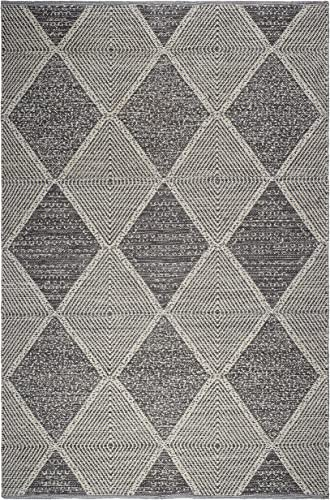 Fab Habitat Reversible PET Rugs – Handwoven Indoor or Outdoor Use Stain Resistant, Easy to Clean Weather Resistant Hampton – Gray, 6 x 9
