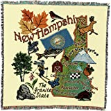 Simply Home State of New Hampshire Mid-Size Deluxe Tapestry Throw Blanket USA Made SKU RTP040818