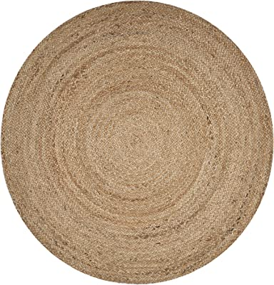 LR Resources NATUR50136NAT80RD Jute LR50136-NAT80RD Natural Round 8 ft Indoor Area Rug