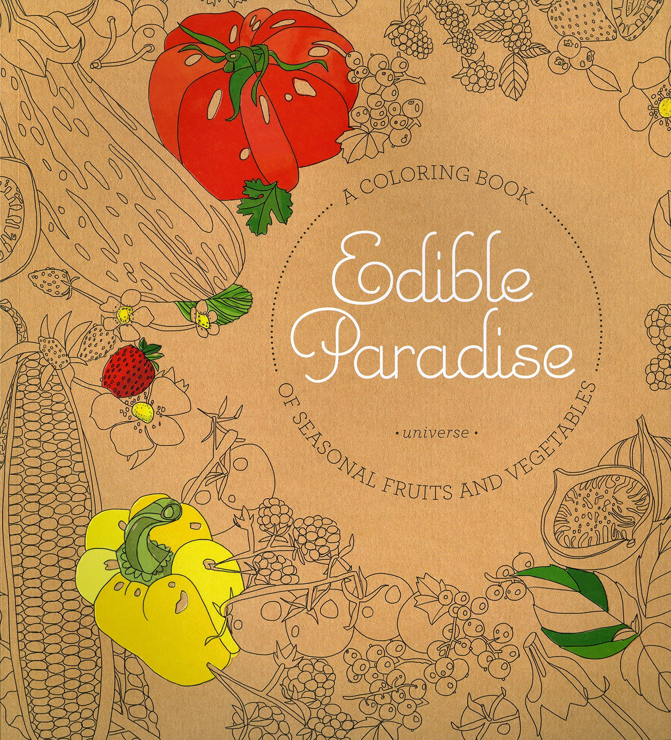 Amazon.com: Edible Paradise: A Coloring Book of Seasonal Fruits and ...