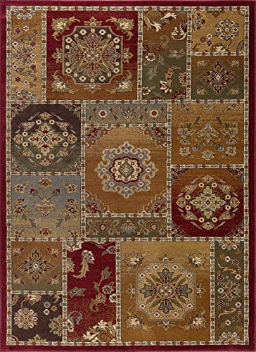 Chelsea Transitional Floral Multi-Color Rectangle Area Rug, 6.7 x 10
