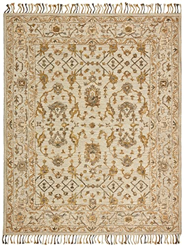 Safavieh Ikat Collection IKT222B Handmade Blue and Green Premium Wool Area Rug 10 x 14