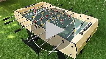 Umi. Essentials Mesa de Futbolín Plegable 4 Pies Fútbol Mesa de Juego Interior Deportes para Niños Juego en Familia: Amazon.es: Deportes y aire libre