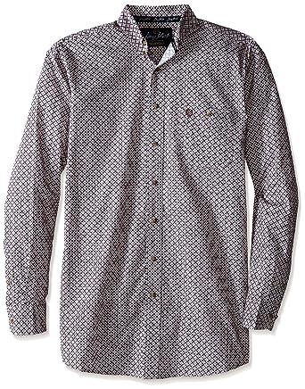f9b326e9 Wrangler Men's Big George Strait and Tall Long Sleeve One Pocket Shirt,  Chestnut, Medium