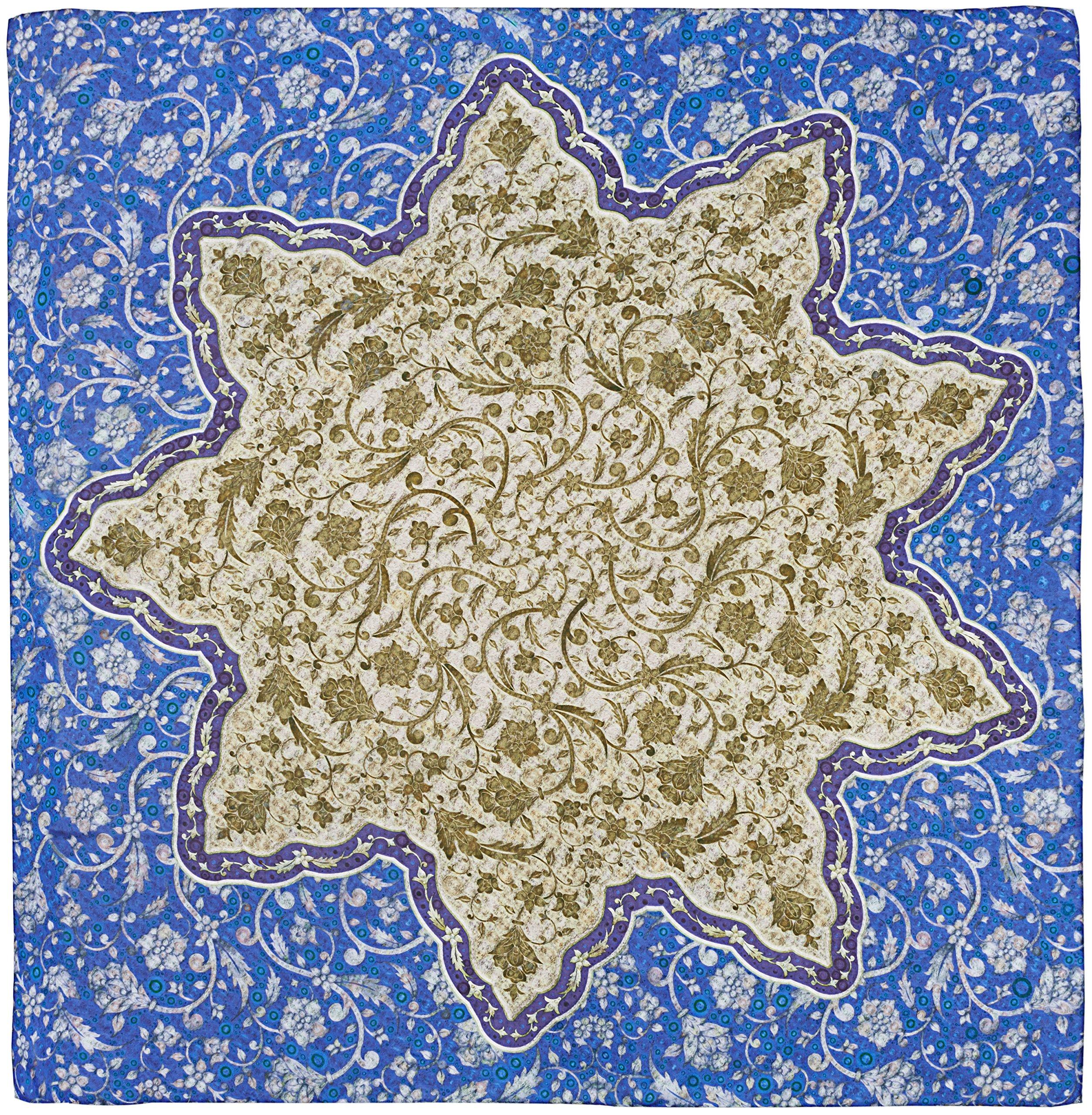 R. Culturi Handmade in Italy Modal Cashmere Luxury Artwork Scarf (Blue/Beige) by R. Culturi
