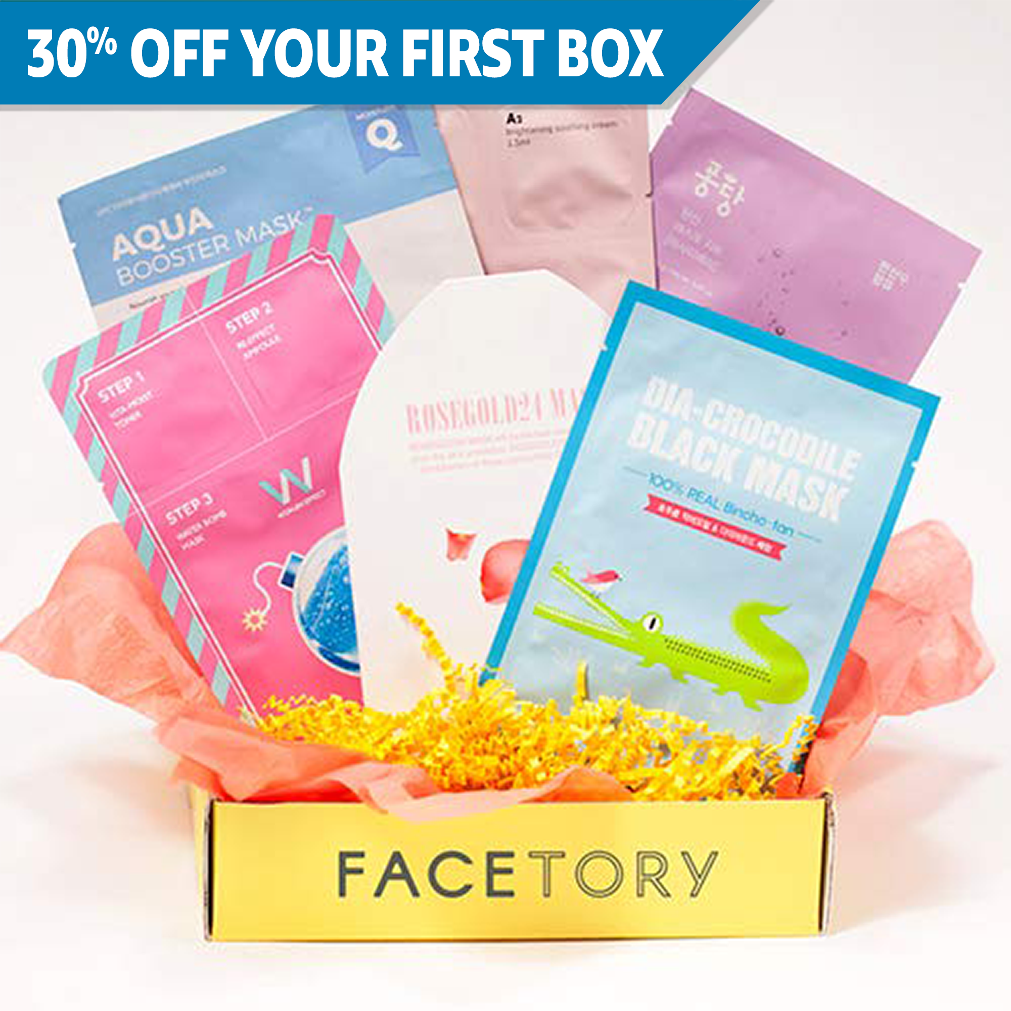(FaceTory - Handpicked Korean Sheet Masks Subscription Box: 4-Ever Fresh)