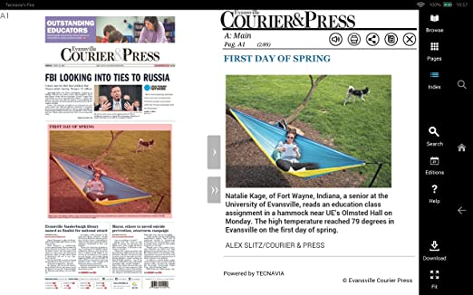 Amazon.com: Evansville Courier U0026 Press Print Edition: Appstore For Android