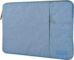 """KECC 11-12"""" Sleeve for MacBook 12"""" A1534 / MacBook Air 11"""" A1465/A1370 Laptop Protective Case Canvas Bag with Pocket for Surface Pro 5,4,3, Chromebook, Acer, Asus Notebook (Blue)"""
