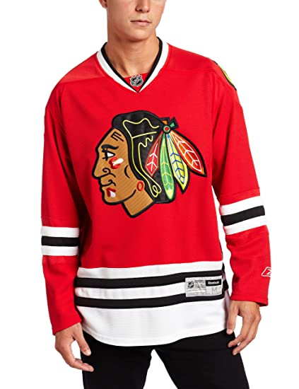 1b6cb277e8f Amazon.com   Reebok Chicago Blackhawks Red Premier Hockey Jersey   Sports  Fan Hockey Jerseys   Clothing