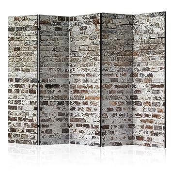 murando - Raumteiler & Pinnwand - Foto Paravent Ziegel-Optik 225x172 ...