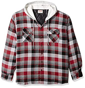 Amazon.com: Wrangler Men's Big and Tall Authentics Quilted Lined ... : quilted flannel jacket with hood - Adamdwight.com