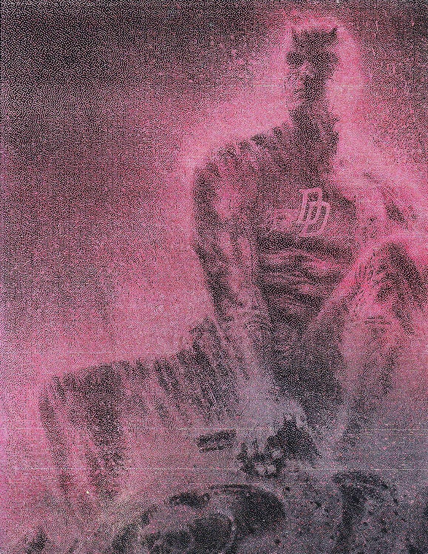 Daredevil Gargoyle Matt Murdock Metal Poster Spray Paint Art