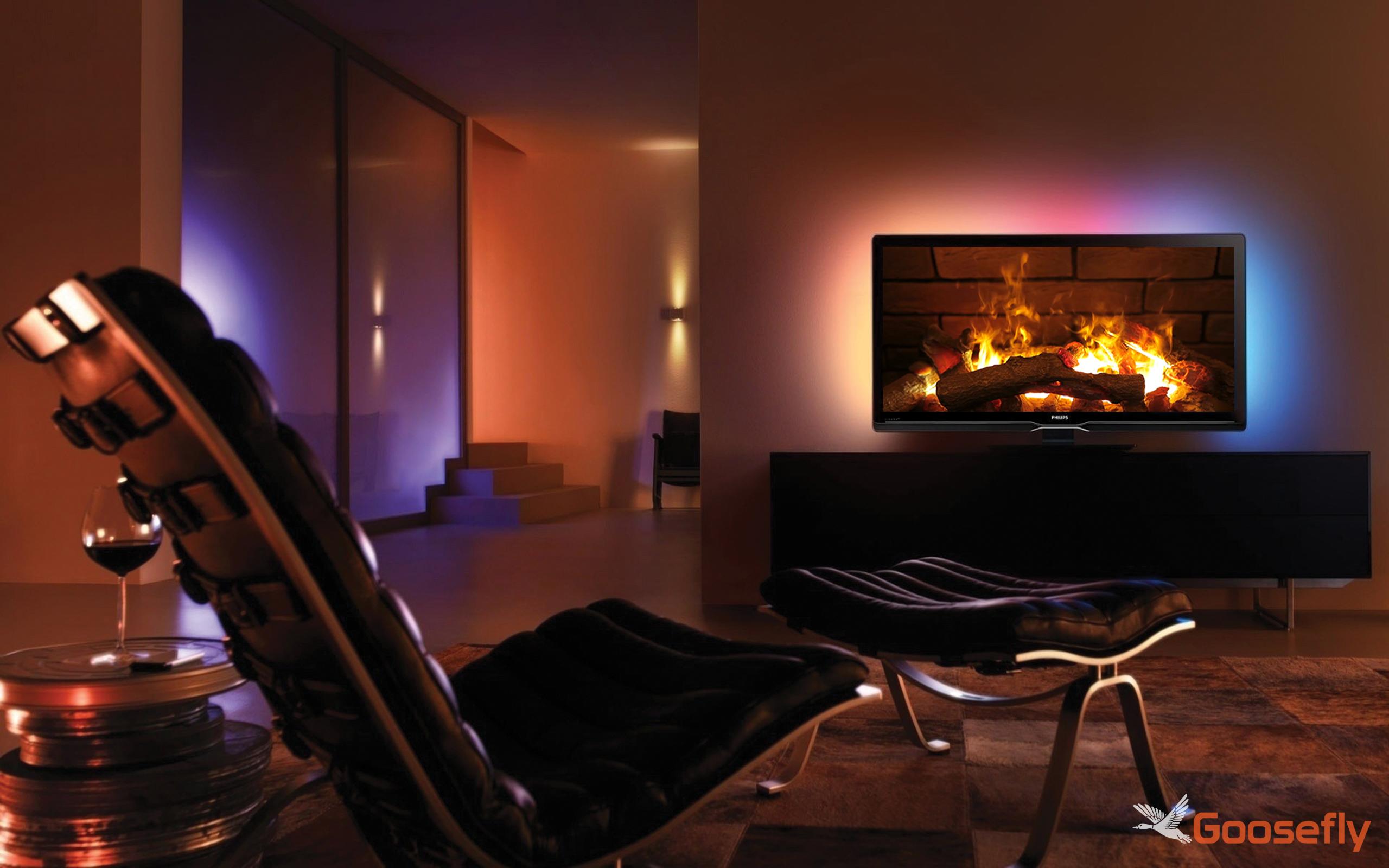 ambiente de chimenea HD gratis: disfrute de las vacaciones