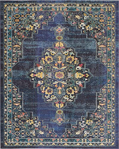 Nourison Passionate Persian Traditional Navy Area Rug 7'10″ x 10'
