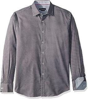 Bugatchi Mens Davey Long Sleeve Tonal Button Down Shirt