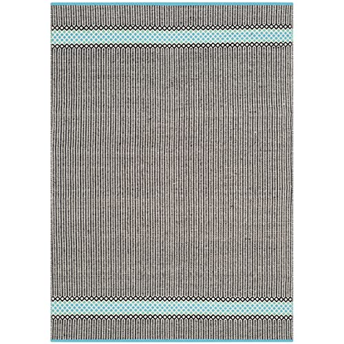 Safavieh Montauk Collection MTK820H Handmade Flatweave Turquoise and Multi Cotton Area Rug 5 x 8