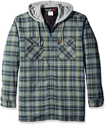 Amazon.com: Wrangler RIGGS WORKWEAR Men's Big and Tall Hooded ... : quilted flannel jacket with hood - Adamdwight.com