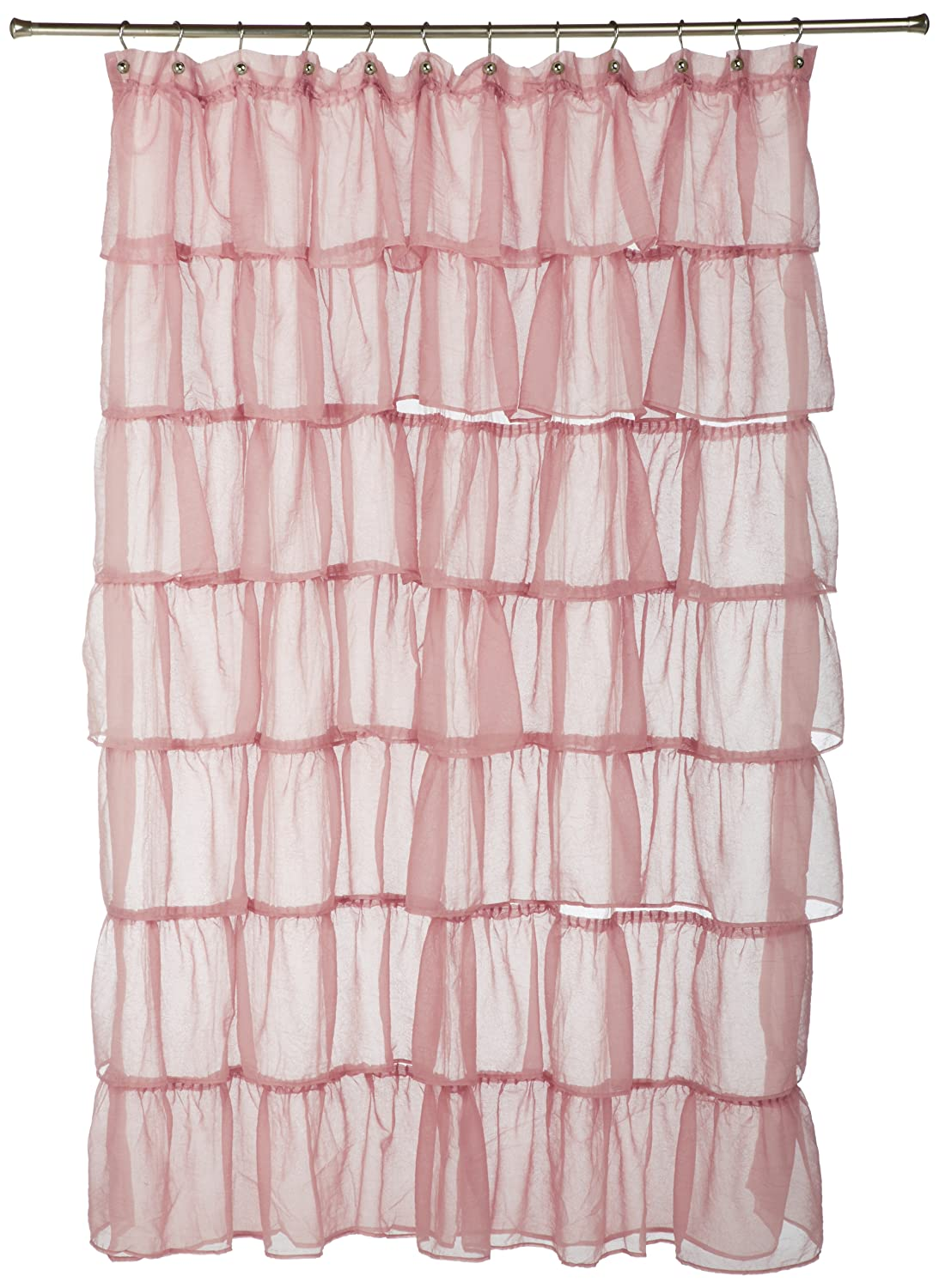Amazon com  Lorraine Home Fashions Gypsy Shower Curtain  70 Inch by  72 Inch  Pink  Home   KitchenAmazon com  Lorraine Home Fashions Gypsy Shower Curtain  70 Inch  . Pale Pink Shower Curtain. Home Design Ideas