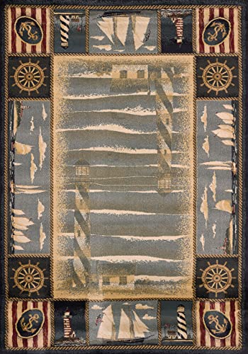 Best living room rug: United Weavers of America Genesis Collection Yachtsmen Heavyweight Heat Set Olefin Rug