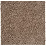 "Nance Industries Peel and Stick Soft Residential Carpet Tile with Padding, 24""X24"", Light Brown, 8 Tiles"