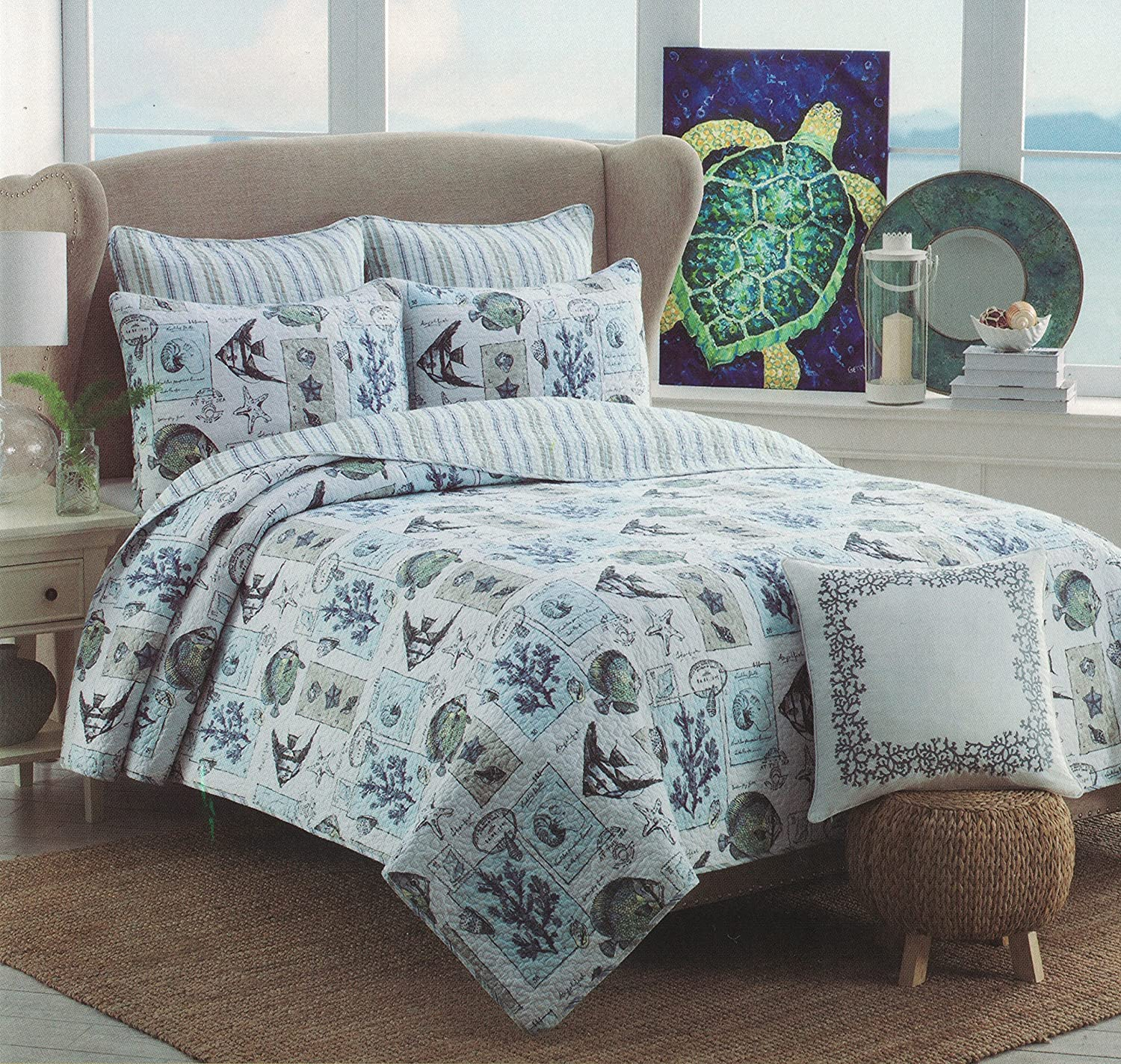 Nicole Miller Collection Tropical Beach Escapade (Full/Queen 1-pc Quilt ONLY)