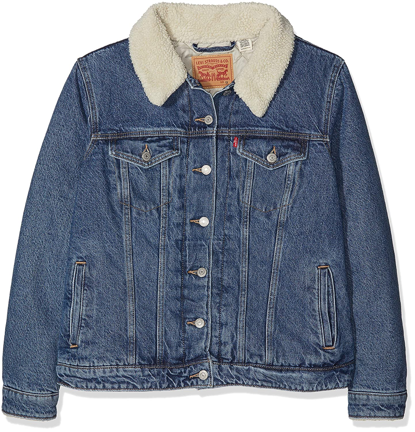 Levis Plus Size Pl Sherpa Trucker Chaqueta Vaquera para Mujer