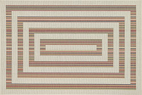Loloi Rugs, Ibiza Collection – Ivory Multi Area Rug, 5 -2 x 7 -5